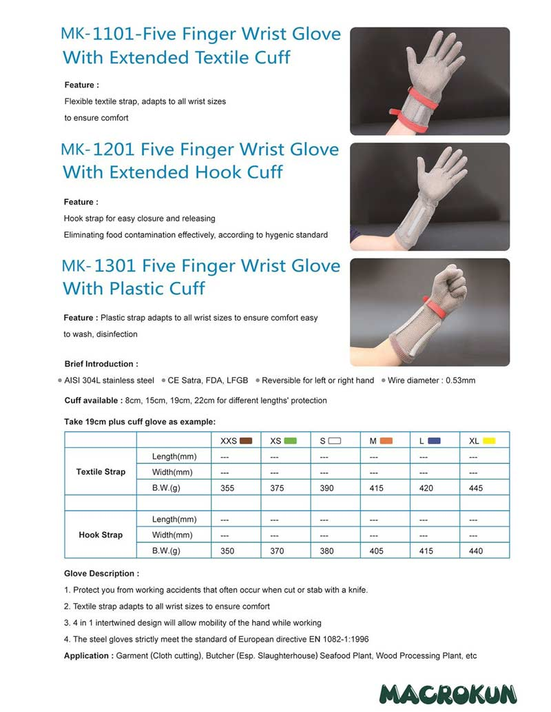 Extended Cut Resistant Gloves from China,Macrokun ring mesh gloves suppliers.