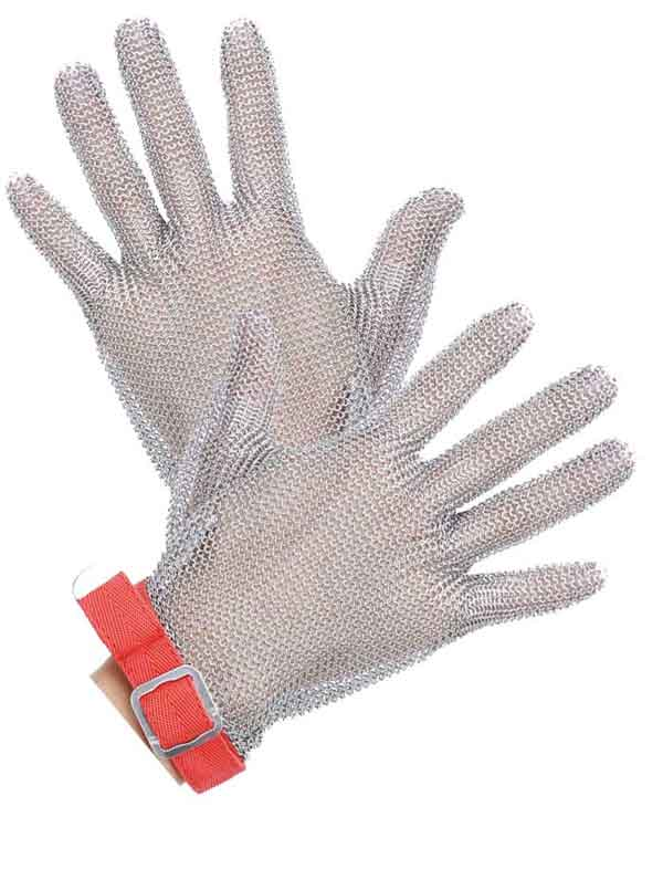 MK5101-Five Finger Stainless steel Glove With Textile Strap
